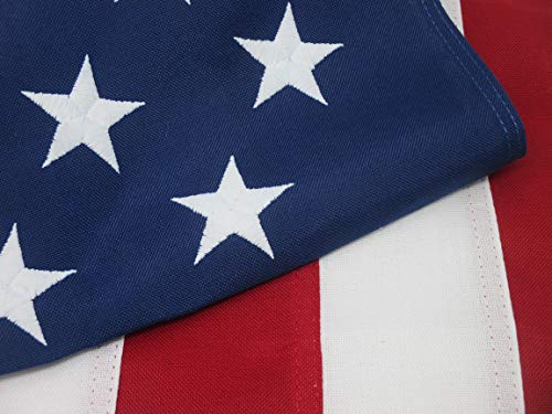 AMERICAN FLAG HEAVY DUTY 4x6 PREMIUM Commercial Grade 2-Ply PolyMax Polyester The BEST US FLAG 100% Made in USA Tough Durable Fade Resistant All Weather SEWN STRIPES EMBROIDERED STARS (4 by 6 foot) ()