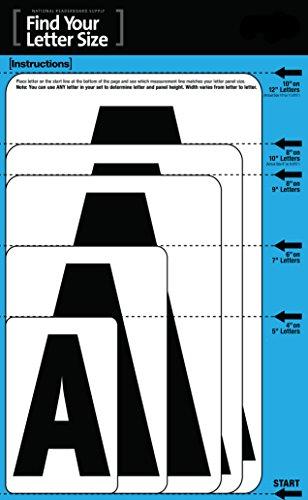 6'' Gemini Pronto ADM Standard 250 Piece Full Set Black Letters/Black Numbers by NRS Gemini Pronto (Image #3)