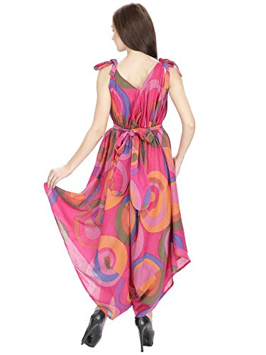 Aakriti Gallery Women Floral Dress Evening Party Wear With Adjustable Belt Strap