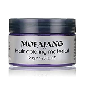 Unisex DIY Hair Color Wax Mud Dye Cream Temporary Modeling 7 Colors Mofajang Purple