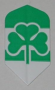 US Darts - 3 Sets (9 Flights) Ireland, EIRE, Irish Clover Slim Dart Flights - Ex-Tough, 100 Micron