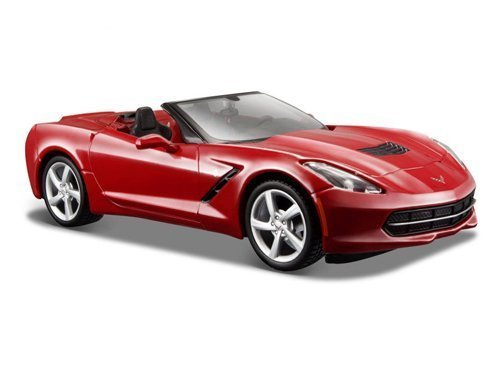 Convertible Red (Maisto 2014 Chevrolet Corvette C7 Convertible Metallic Red 1/24 Model Car)