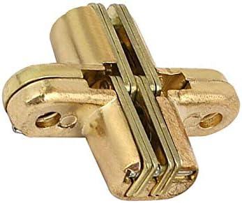 SENRISE Charni/ère cach/ée 180 degr/és charni/ère invisible porte pliante en croix en alliage de zinc dor/é invisible or