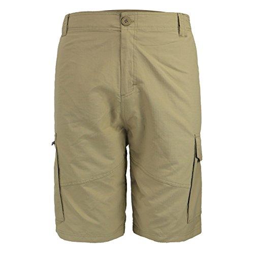 Urimoser Khaki Cargo Shorts for Men,Casual Performance Twill Nylon Shorts(Khaki, 32)