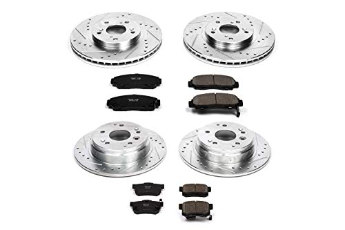 - Power Stop K2298 Front and Rear Z23 Evolution Brake Kit with Drilled/Slotted Rotors and Ceramic Brake Pads