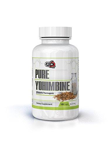 La Yohimbine HCL Chlorhydrate Hommes coupe-Faim Pilules Puissant Thermogénique Gras Brûlant Supplément de Perte de Poids prend en charge de l'Énergie de l'Endurance Mentale Concentrer la Puissance de l'Endurance Yohimbe hci 2,5 mg (100 Caps)