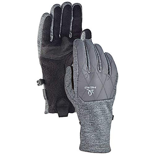 - HEAD Women's Hybrid Glove, Gray (Size Large) Cold Weather Running Gloves