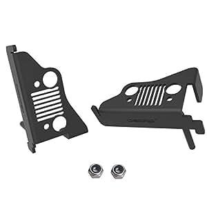 oEdRo Jeep Wrangler Rest Foot Pegs Pedal for 2007-2018 JK JKU Steel Foot Kick Pannel Jeep Wrangler Accessories - 1 Pair