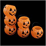New 6pcs Halloween Vintage Bar Pumpkin Jack O Lantern Light Goodie Bucket Party Halloween Decorations Wholesale