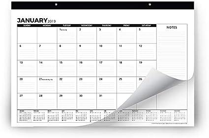 Calendario de escritorio 2018-2019 (uso mensual de septiembre de 2018 a diciembre de 2019) – gran