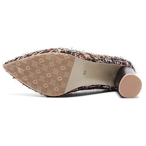 Pumps RAZAMAZA Cinturino Alto Tacco Caviglia Moda Rosso Donna Scarpe WqnrqpwI