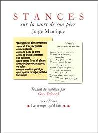 Stances sur la mort de son père par Jorge Manrique