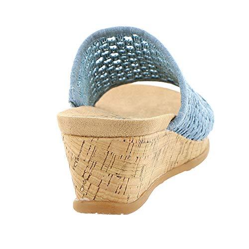 Women's Flossey Sandal Denim Washed Baretraps Slide A1d6nxAqw