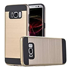 DHAO Samsung Galaxy S8 Cover Case Shockproof TPU Protective Hard Shell Samsung Galaxy S8 Case(Gold)
