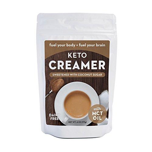 Keto Creamer with MCT Oil, Dairy Free Super Creamer (Sweetened Coconut Sugar, 6 OZ)
