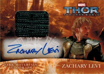 Thor Dark World MA-ZL Autograph Costume Card Signed by Zachary Levi as Fandral - Ma Costumes