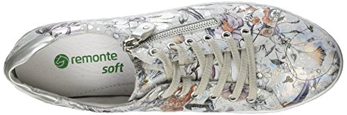 silver Femme D5800 Basses Sneakers offwhite metallic Multicolore Remonte UwRHOqw