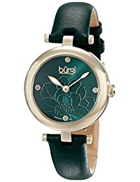 Burgi Women's BUR128GN Analog Display Japanese Quartz Green Watch