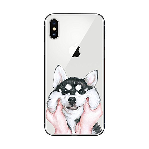 iPhone X Case,New Cute Animal Style TPU Protective iPhone X Case by Fancy Case (Husky (Huskies Cell Phone Case)