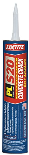 Loctite PL S20 Polyurethane Self Leveling Concrete Crack Sealant, 10 Ounce Cartridge, Masonry Gray (1618150)