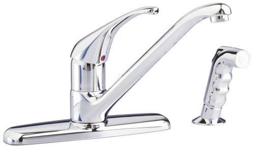 American Standard 4205.001.002 Reliant Single-Control Kitchen Faucet with Cast Brass Spout and Metal Lever Handle, Polished Chrome - Handle Kitchen Cast Spout Faucet