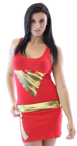 [X-Men Dark Phoenix Red Juniors Costume Tunic Tank Dress (Juniors Small)] (Women X Men Costumes)