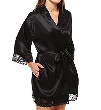 Seven Til Midnight Women's Enchanting Robe, Black, One Size