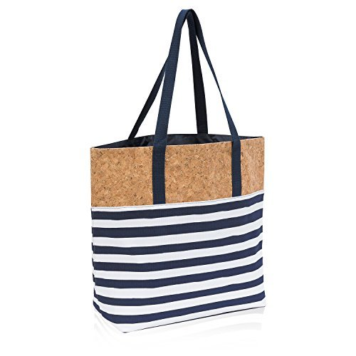 Thirty One Getaway Tote in Cabana Stripe - No Monogram - 8722