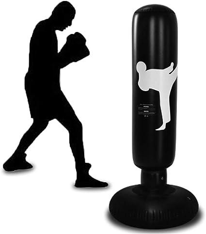 160cm Inflatable Boxing Punching Bag Kick Training Tumbler Sandbags Kids //Adults