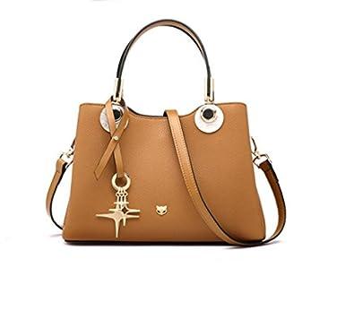 02b7468243e2 FOXER Women Leather Handbag Purse Top Handle Tote Shoulder Bag on ...