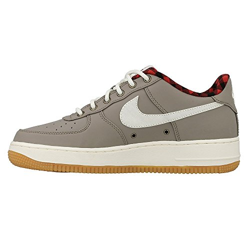 Nike Air Force 1 Lv8 (Gs) - Sportschuhe Jungen, Grau (Light Taupe / Sail Tour Yellow), 35.5 EU