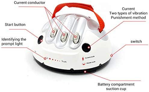 Bozaap Mini Detector de mentiras Prueba de polígrafo Ajustable Juguete de Descarga eléctrica Divertido Juego de Mesa de Verdad para niños Adultos: Amazon.es: Hogar