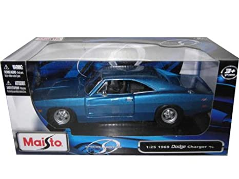 Blue Dodge Charger >> 1969 Dodge Charger R T Blue 1 25 Diecast Model Car