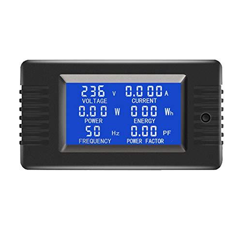 AC Current Voltage Amperage Power Energy Panel Meter LCD Digital Display Ammeter Voltmeter Multimeter 6in1 AC 80-260V 5A