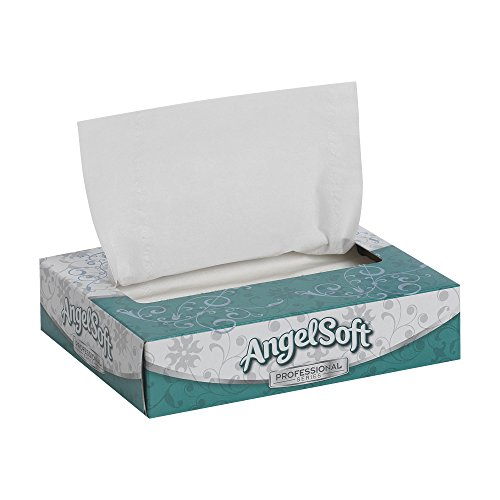 Georgia Pacific Angel Soft Ps 48550 White Flat Box Personal Size Facial Tissue  5 19 32 Width X 7 13 64 Length  Case Of 60 Boxes  50 Sheets Per Box