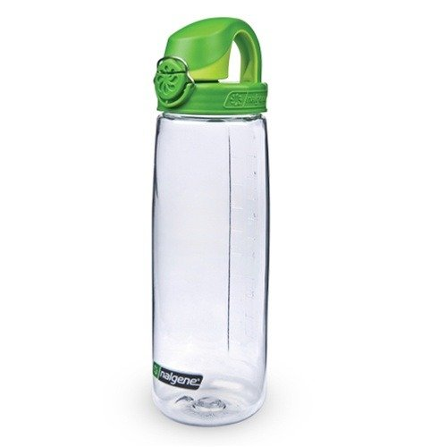 Nalgene Tritan On The Fly Water Bottle  Clear With Green  24Oz