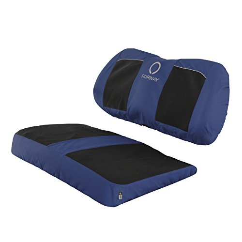 Classic Accessories Fairway Golf Cart Neoprene Panel Bench Seat Cover - Black/Navy