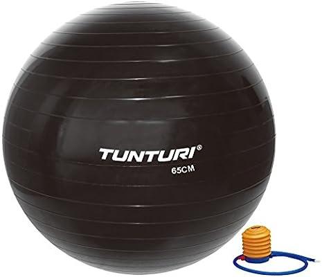 Tunturi-Fitness 14Tusfu169 Balón Suizo, Unisex Adulto, Negro, 65 ...