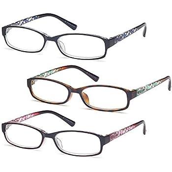 f0bd9be1e18f GAMMA RAY 3 Pairs Women Fashion Readers Thin Elegant Reading Glasses - 1.25x