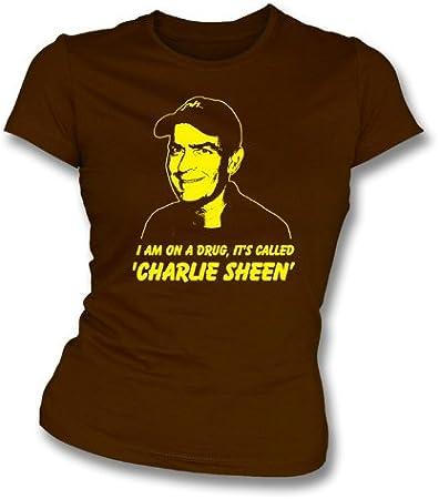TshirtGrill Charlie Sheen Estoy en una Droga Slim-fit de la niña Talla XL: Amazon.es: Deportes y aire libre