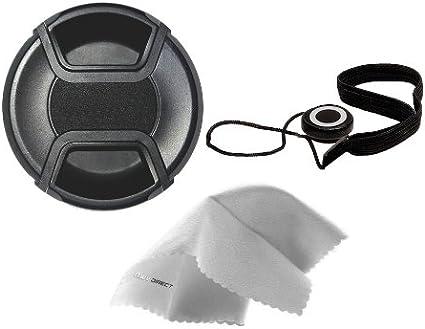 Nwv Direct Microfiber Cleaning Cloth for Pentax K-30 49mm Digital Nc Lens Cap Side Pinch + Lens Cap Holder