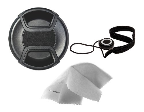 Canon PowerShot SX540 HS Lens Cap Center Pinch (58mm) + Filter Adapter + Lens Cap Holder + Nw Direct Microfiber Cleaning Cloth. by Digital Nc