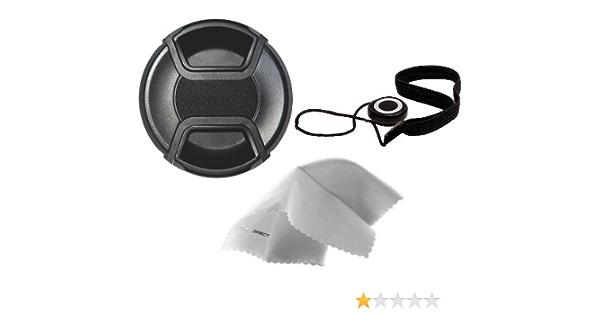 52mm Nwv Direct Microfiber Cleaning Cloth. Digital Nc Panasonic Lumix DMC-GF3 Lens Cap Center Pinch + Lens Cap Holder