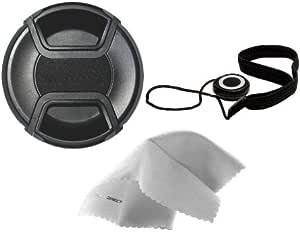 77mm + Lens Cap Holder Lens Cap Side Pinch Nwv Direct Microfiber Cleaning Cloth for Sigma Normal 50mm f//1.4 EX DG HSM
