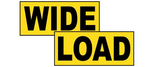Wide Load Sign >> Compliancesigns Magnetic Wide Oversize Long Load Signs Set