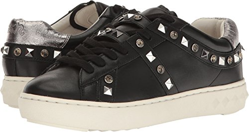 Sneakers Con Borchie Da Donna In Frassino Nero / Nappa Cromo / Blad