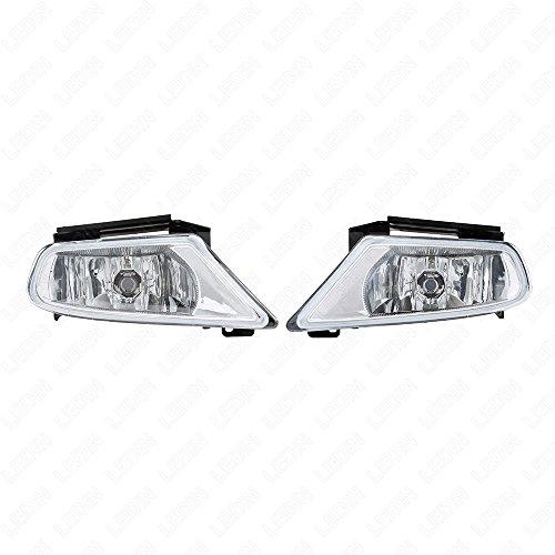 LEDIN 2005-2007 Honda Odyssey Clear Lens Front Bumper Fog Driving Light Assembly w/Switch w/Bulbs