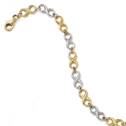 Icecarats Créatrice De Bijoux Leslies 14K Deux Tons Bracelet Poli 7,25 Pouces