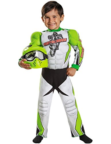 Disguise Motocross Toddler Muscle Costume, Medium (3T-4T)