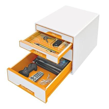 Leitz 52150002 Cube/Plus/Wow Cube Schubladeneinsatz (A4, Polystyrol) glasklar Esselte Leitz